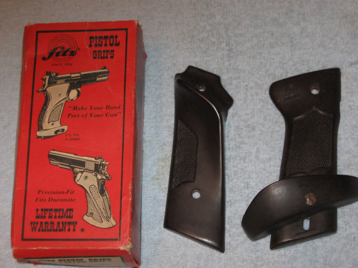 Fitz Vintage Accu-Riser Model Agu For Colt 1911 & 1911a1 Models National  Match Grips