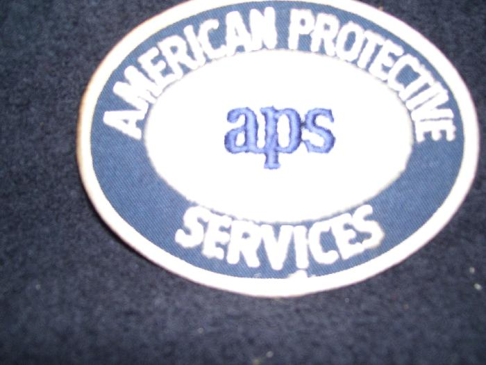 AMER  PROTEC  SEC APS OFFICER SERV   PATCH - Picture 1