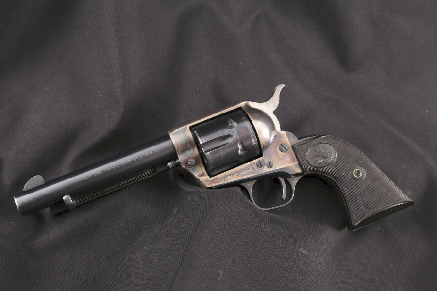 "Colt Model 1873 SAA Single Action Army Early 2nd Generation, Blue & Case Color 5 ½"" - Single Action Revolver, MFD 1960 C&R - Picture 5"
