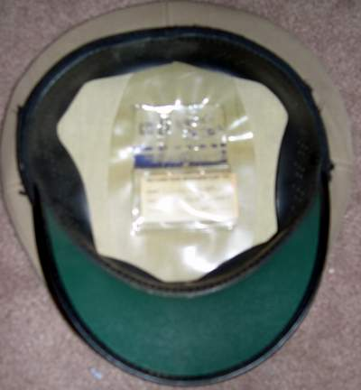 EARLY MARINE/NAVAL HAT FROM USS PELELIO - Picture 2