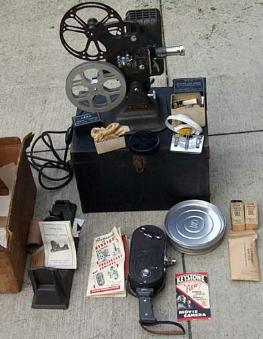EARLY ANTIQUE COMPLETE KEYSTONE MOVIE EQUIP. SET - Picture 2