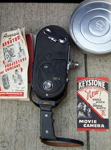 EARLY ANTIQUE COMPLETE KEYSTONE MOVIE EQUIP. SET - Picture 3