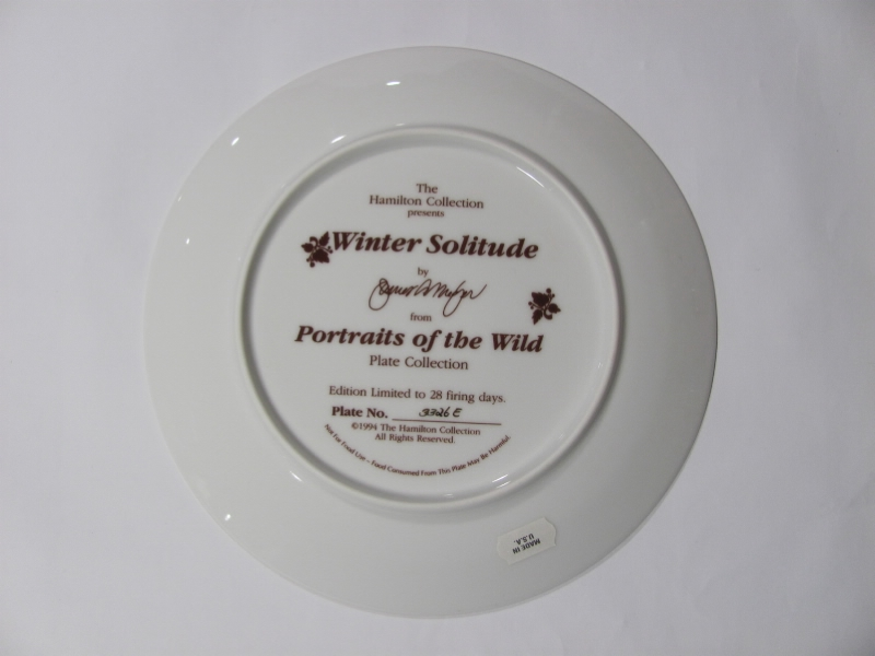 Hamilton Wolf Plates Winter Solitude James Merger - Picture 2